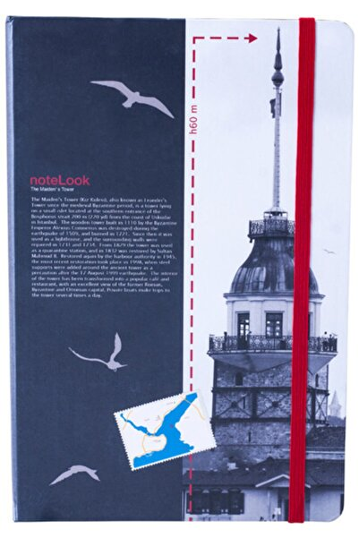 Scrikss A5 Defter Kız Kulesi Istanbul Temalı