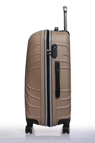 Fsy1113-set Bronz Bronz Unısex 3 Lü Set Valiz