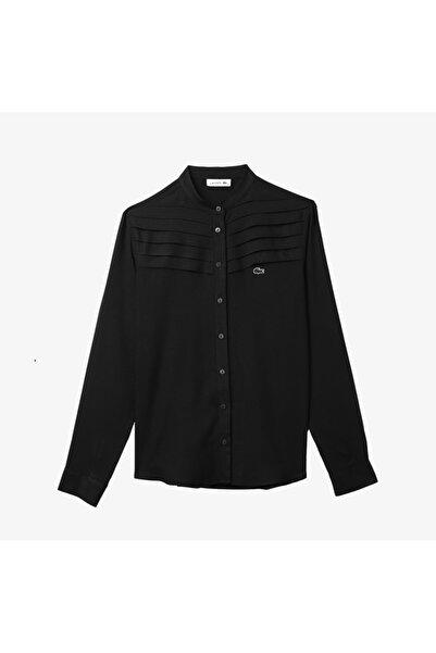 Lacoste Kadın Hakim Yaka Siyah Gömlek CF2103