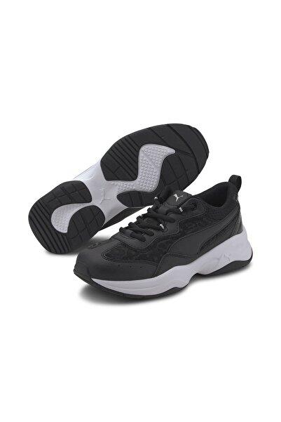 Puma Cilia Mesh Glitter- Kadın Spor Ayakkabı-37336201 -beyaz