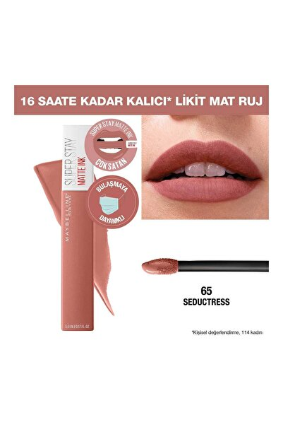 Likit Mat Ruj - SuperStay Matte Ink Liquid Lipstick 65 Seductress 3600531469498