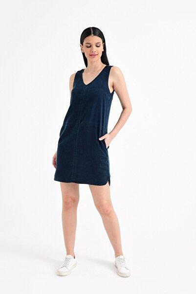 Marmara Smoke Blue Denim Elbise