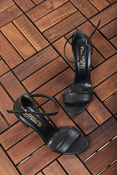Oksit Kadın Siyah Yüksek Topuklu Ayakkabı Florin 313