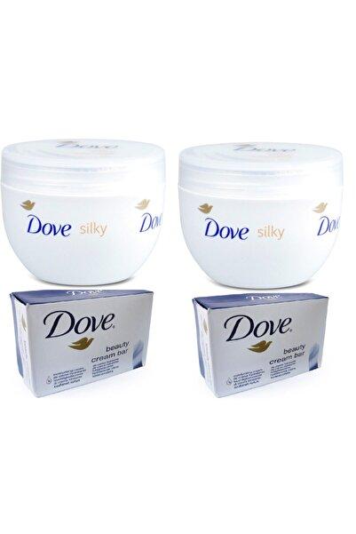 Dove El Ve Vücut Kremi Orıgınal Body Sılk 300 Ml 2 Adet + Krem 100 Gr X 2 Adet Sabun