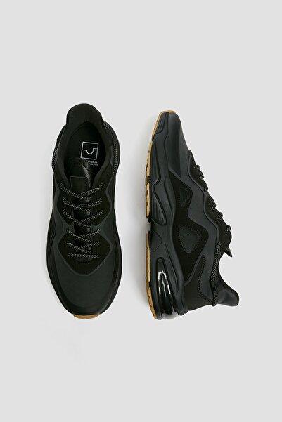 Pull & Bear Erkek Siyah Kontrast Urban Spor Ayakkabı 12308640