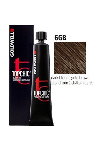 GOLDWELL Topchic Saç Boyası 6gb Koyu Kumral Altın Kahve 60 Ml