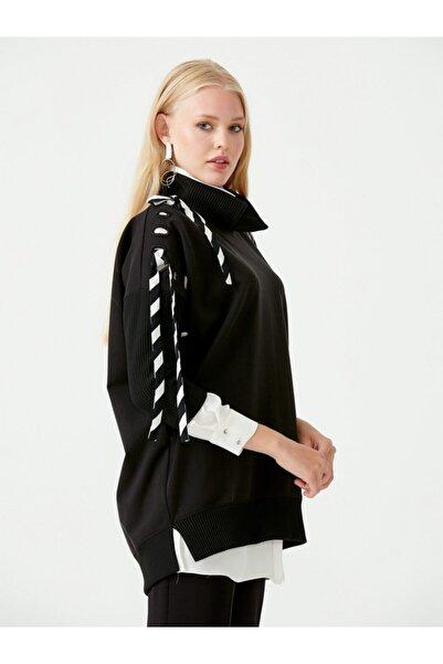 SEÇİL Scl Iç Gömlekli Kolları Şeritli Sweat Bluz