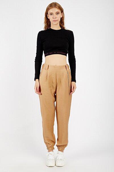 Manche Kadın Kahverengi Pantolon