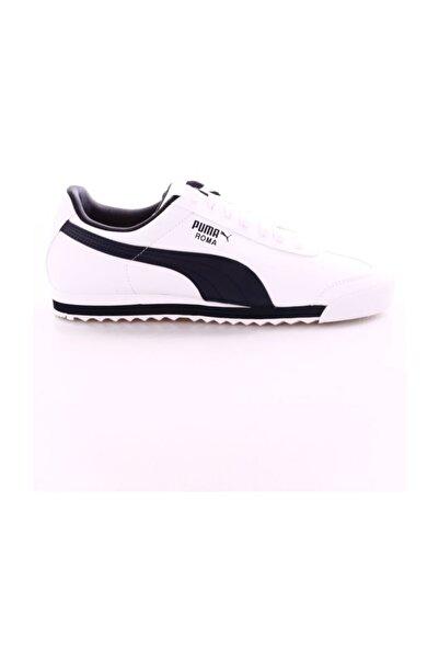 Erkek Beyaz Siyah Roma Basic Navy Spor Ayakkabı 35357212