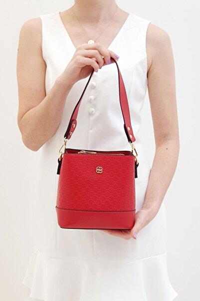 Marjin Fustel Kadın Günlük Çanta Kırmızı