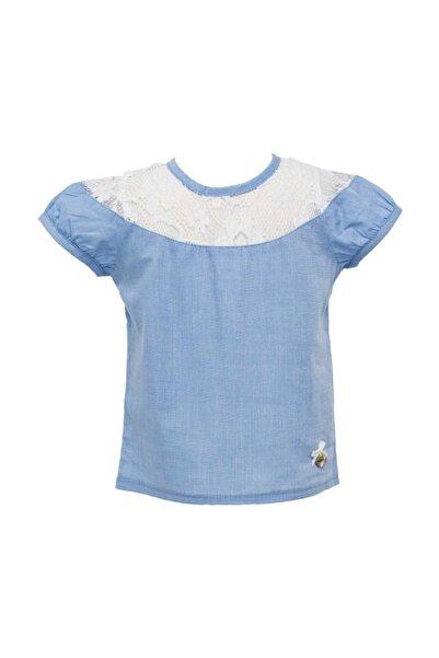 Zeyland Kız Bebek Mavi Gömlek