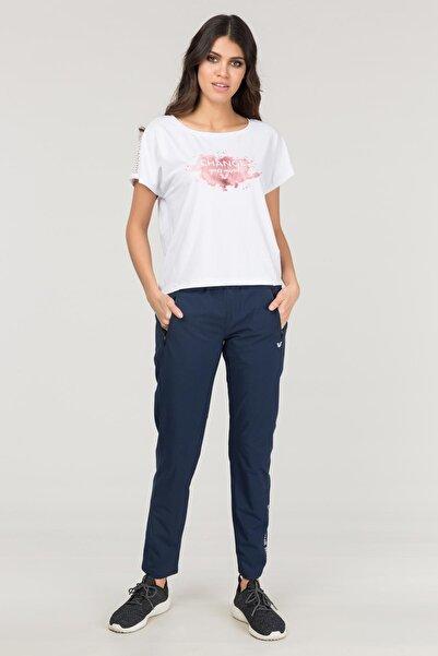 Kadın Beyaz Antrenman T-shirt