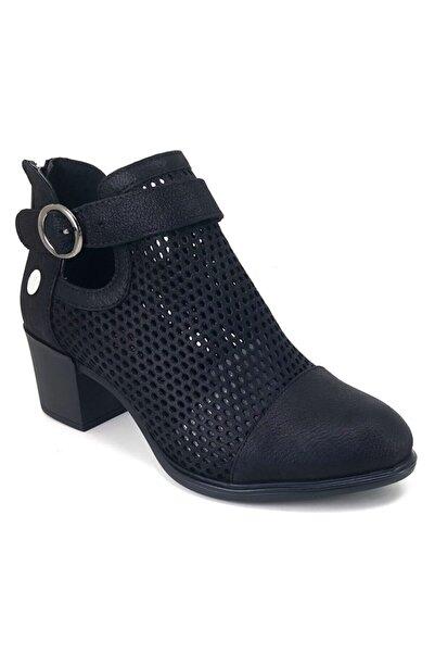 Mammamia 640 Günlük Kadın Ayakkabı Siyah Simli