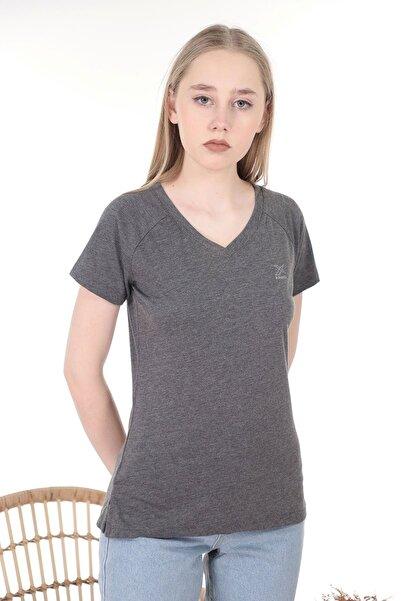 Kinetix Kadın Gri T-Shirt