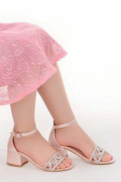 Kiko Kids Kız Çocuk Çatlak Günlük Topuklu Ayakkabı 763
