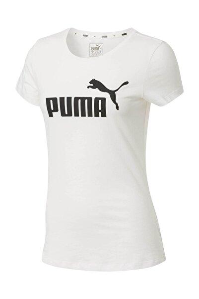 Puma Kadın Beyaz Essential Logo Baskılı T-shirt 85178702