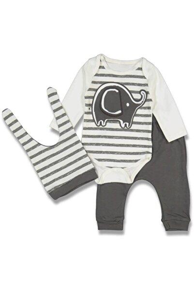 Miniworld Filli Çizgili Erkek Bebek 3 Lü Takım