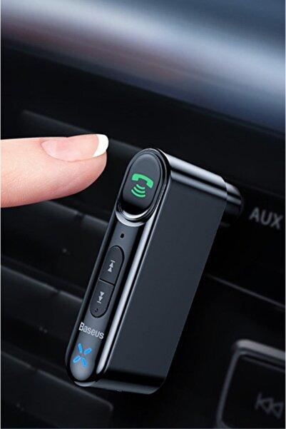 Baseus Qiyin Ssmobil Wxqy Wireless Bluetooth 5.0 3.5mm Jack Aux Araç Ses Aktarım Kiti Adeptör