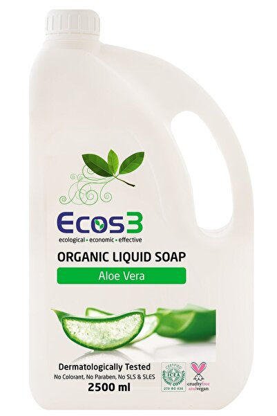 Ecos3 Organik Sıvı Sabun Aloevera 2500 Ml