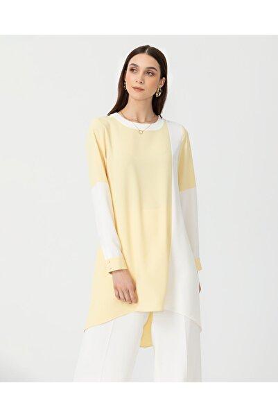 SCL Kadın Sarı İki Renkli Tunik 10100720204502