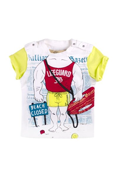 John Galliano Beyaz Erkek T-shirt 00w0ud John Gallıano Jaabl Gt472b T-shırt G100 Whıte