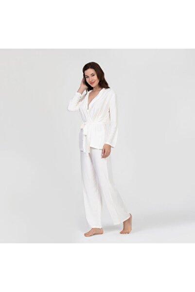 Kadın Ekru Henna Pijama Takımı
