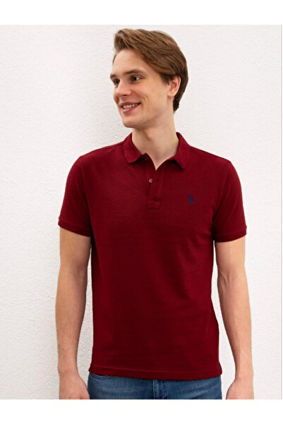 Erkek Bordo Polo Yaka T-shirt