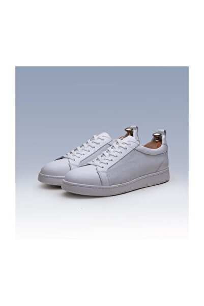 TETRİ Beyaz Deri Spor Ayakkabı