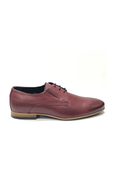 TETRİ Erkek Bordo Deri Klasik Ayakkabı