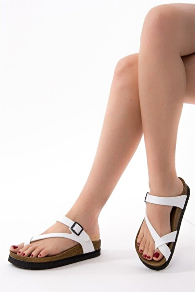 Fox Shoes Kadın Beyaz Terlik B777753009