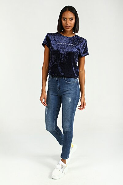 Collezione Kadın Mavi Pantolon