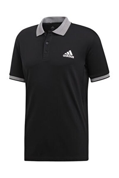 Erkek Siyah Club Solid Polo  Tişört