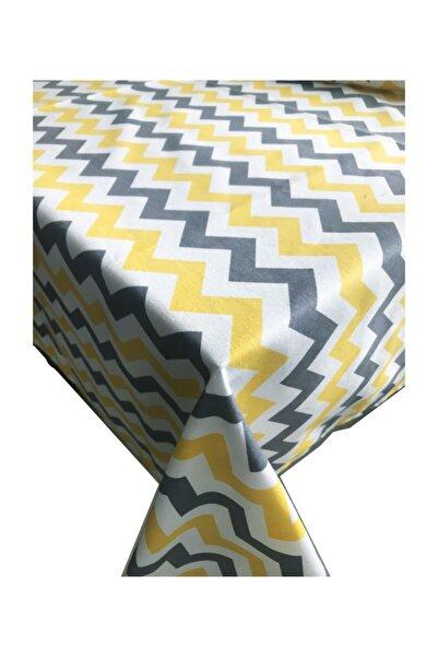 Zigzag Desen Dertsiz Mutfak Masa Örtüsü  140cmx180cm