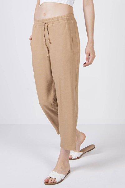 Addax Kadın Toprak Bağlama Detaylı Pantolon PN8001 - X6 ADX-0000022673