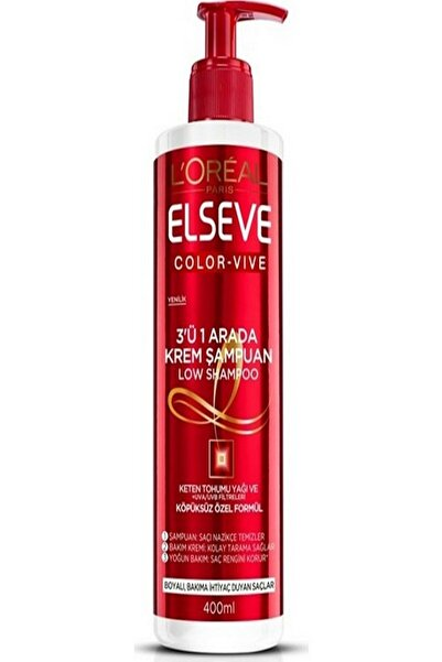ELSEVE Color Vive 3'ü 1 Arada Low Krem Şampuan