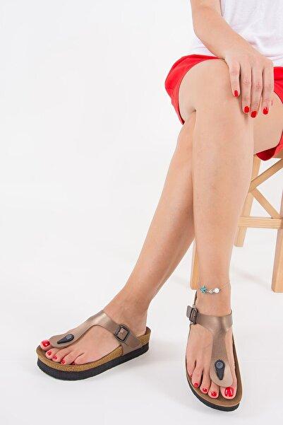 Fox Shoes Kadın Bronz Terlik B777731009