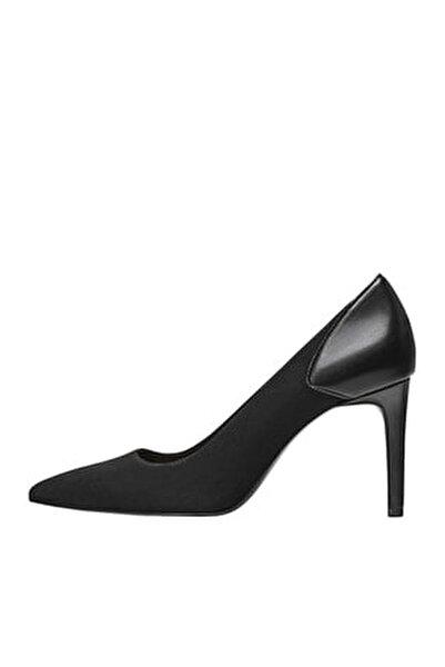 Kadın Siyah Yüksek Topuklu Kontrast Ayakkabı 19650670