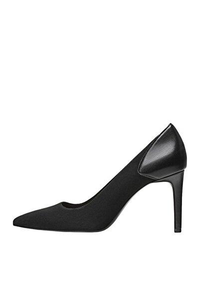 Stradivarius Kadın Siyah Yüksek Topuklu Kontrast Ayakkabı 19650670