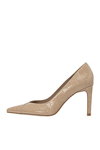 Stradivarius Kadın Bej Kabartmalı Yüksek Topuklu Ayakkabı 19651670