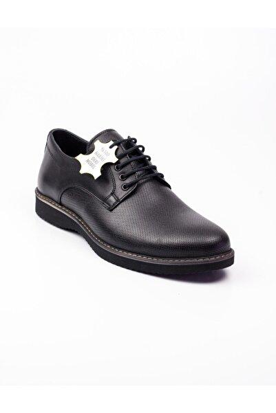 Nobel 975 Siyah Deri Günlük Erkek Ayakkabı Siyah-43