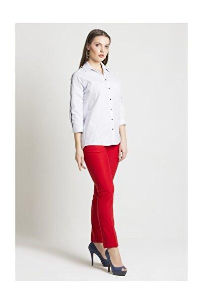 Chima Kadın Kırmızı Dar Paça Pantolon