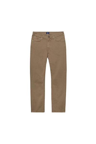 Gant Erkek Bej Regular Fit Denim Pantolon 1010209