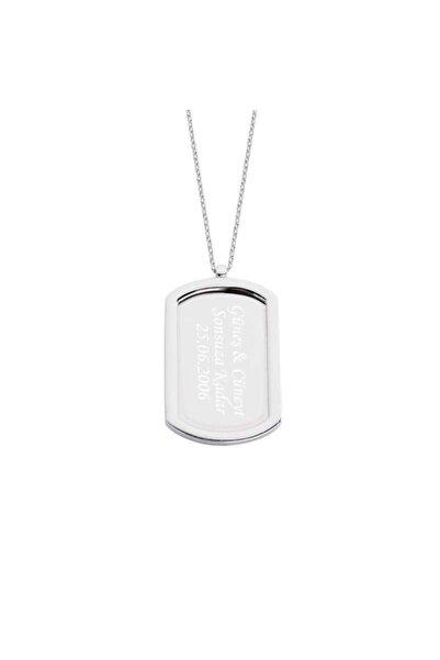 Harem Altın Aşk Künyesi Isimli Gümüş Kolye - Gms1224