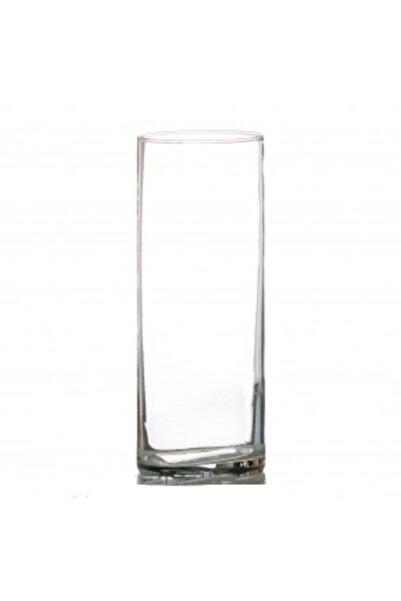 GLASSY Silindir Cam Vazo (12cm Çap-40cm Yükseklik)