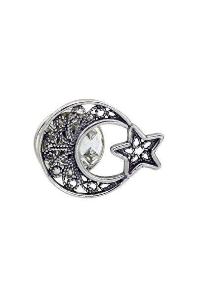 Ay Yıldız Telkari Gümüş Rozet 016