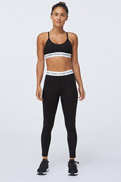 Oysho Kadın Siyah Logolu Comfort Spor Sütyen