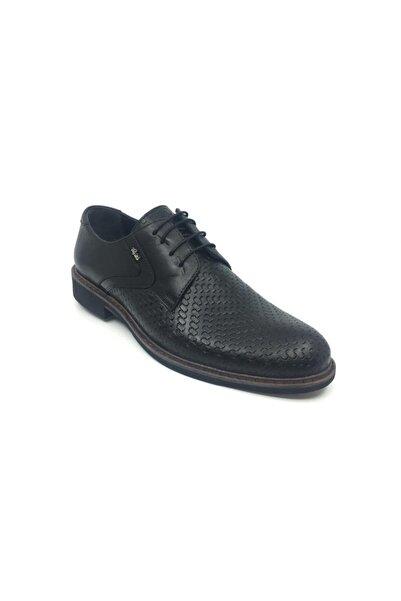 Taşpınar Erkek Siyah Deri Klasik Yazlık Ayakkabı