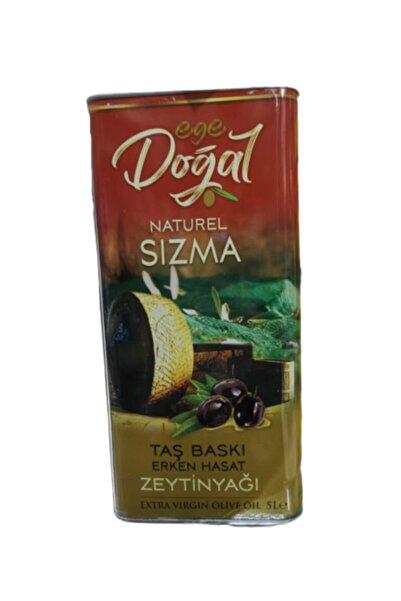 Ege Doğal Naturel Sızma Zeytinyağı 5 Lt Taş Baskı Erken Hasat Extra Virgin Olive Oil