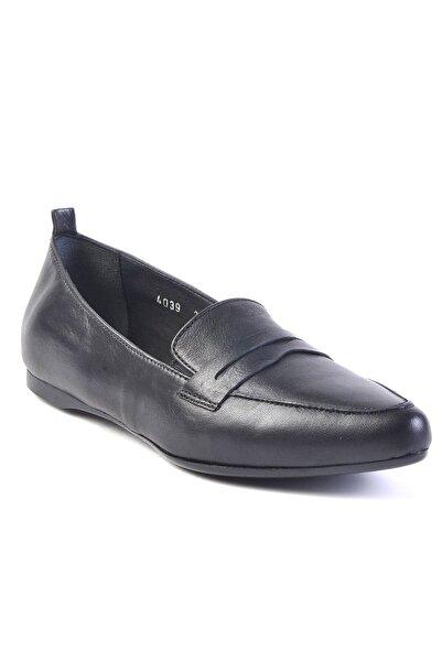 Burç Kadın Siyah Hakiki Deri Ayakkabı