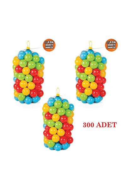 PİLSAN Oyun Havuz Topları 6 Cm 300 Adet Fileli